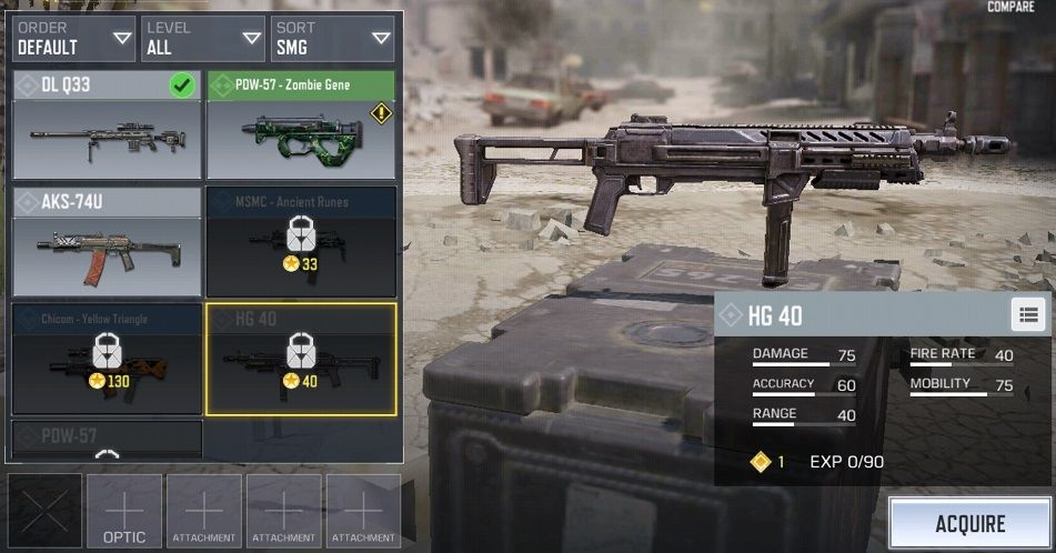 HG 40 Call of Duty Mobile