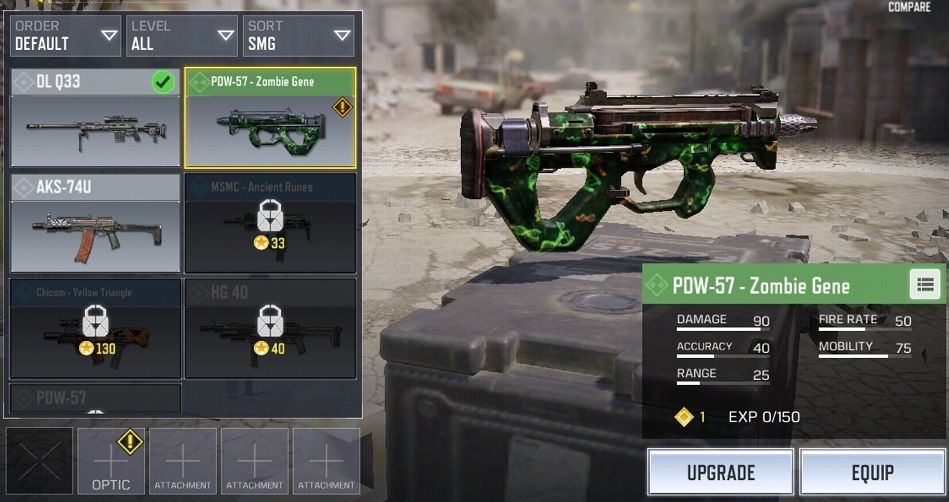 Attachment dan Perk Terbaik PDW 57 COD Mobile
