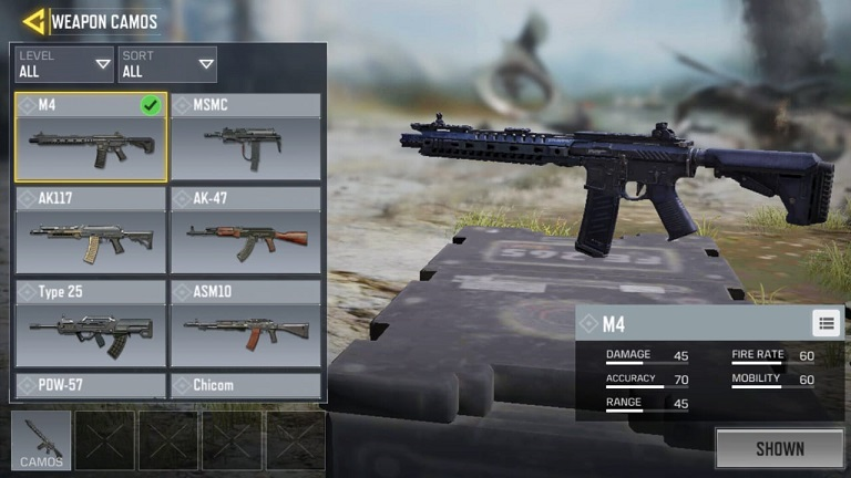 M4 Call of Duty Mobile
