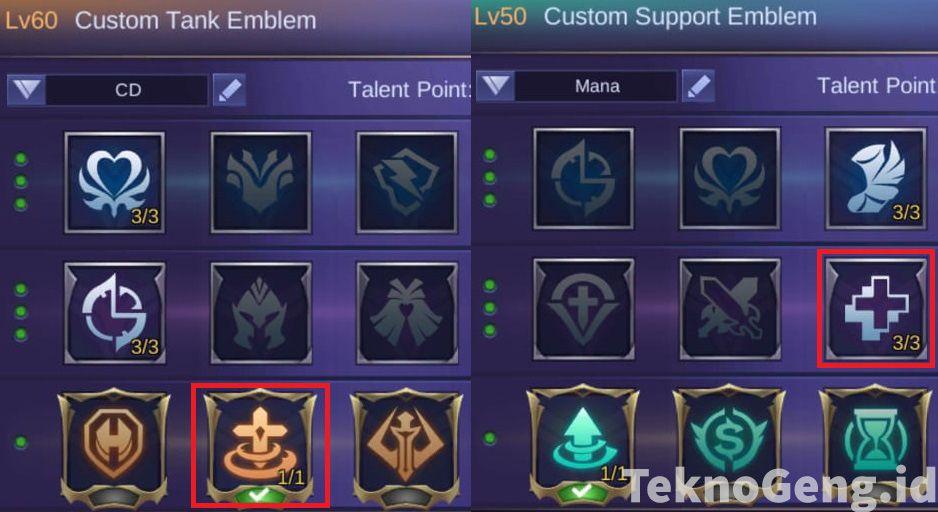 Emblem terbaik Baxia Mobile Legends