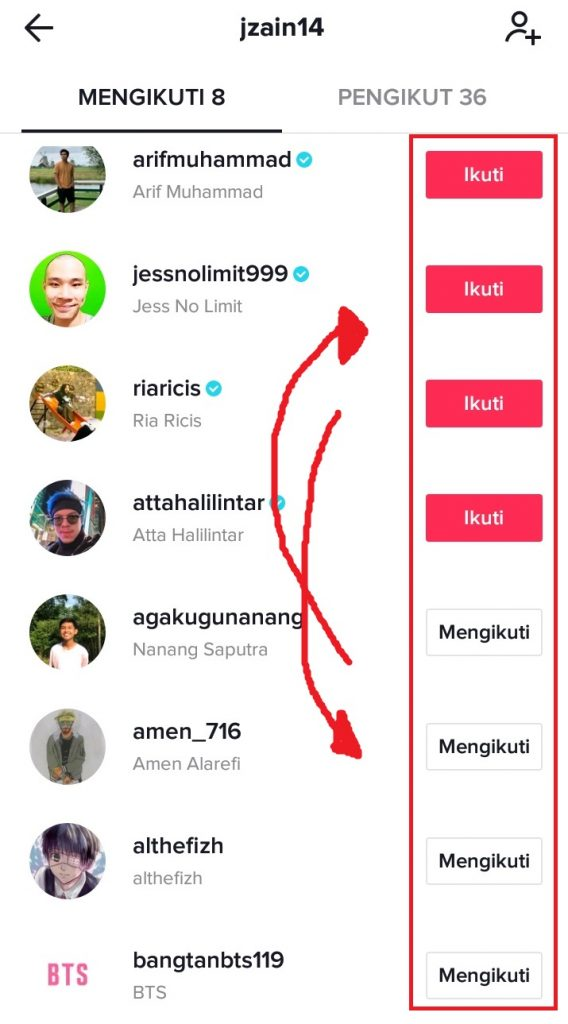 follow-unfollow akun di tiktok