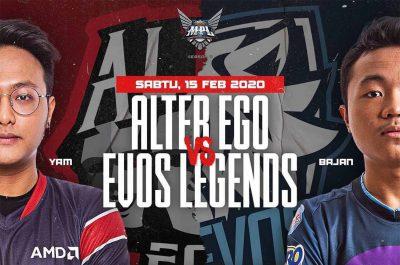 Balas Dendam EVOS Berbuah Hasil Melawan Alter Ego MPL Season 5