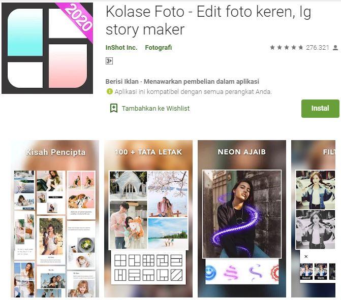 Aplikasi Edit Foto Collage Maker