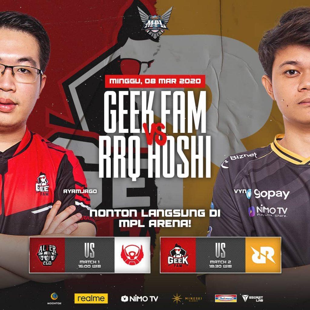 Geek Fam vs RRQ MPL Season 5