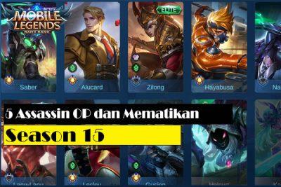 5 Assassin Terbaik dan Tersakit Season 15 Mobile Legends 2020