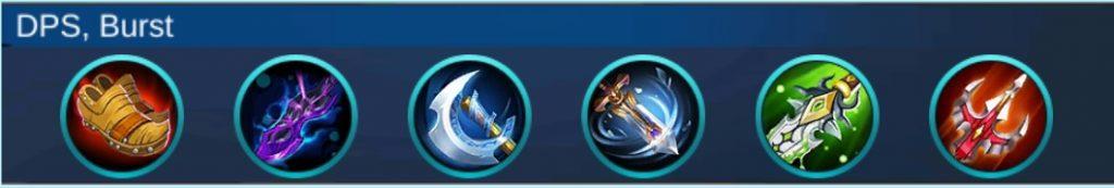 Build item Hanabi Mobile Legends