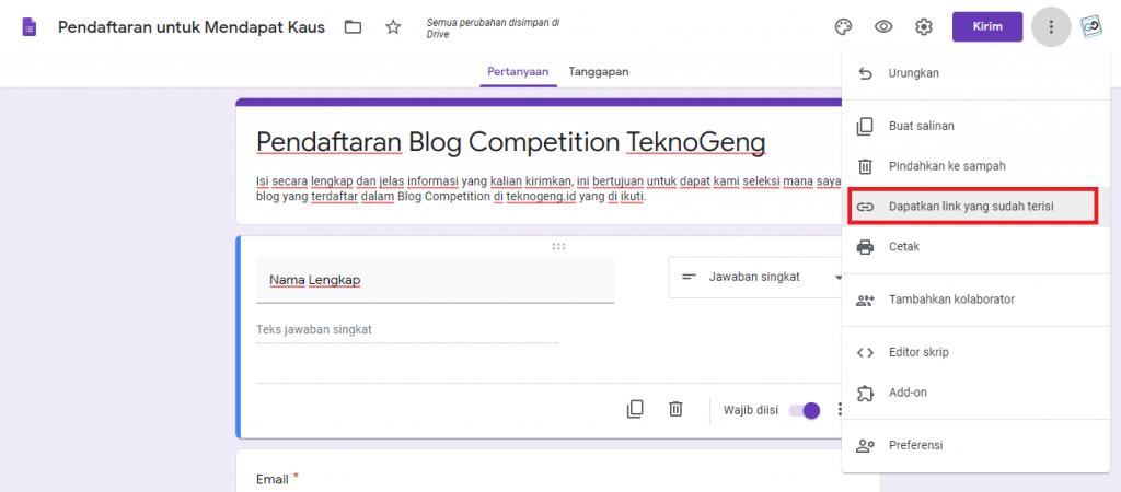 Cara lengkap dan singkat membuat formulir Google Docs di Google. Cara paling jitu untuk membuat formulir praktis untuk Blog Competition.