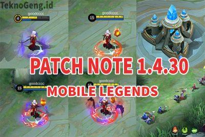 Update Mobile Legends Terbaru Patch 1.4.30