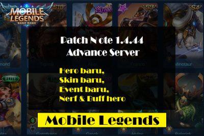 Update Mobile Legends Terbaru Patch 1.4.44