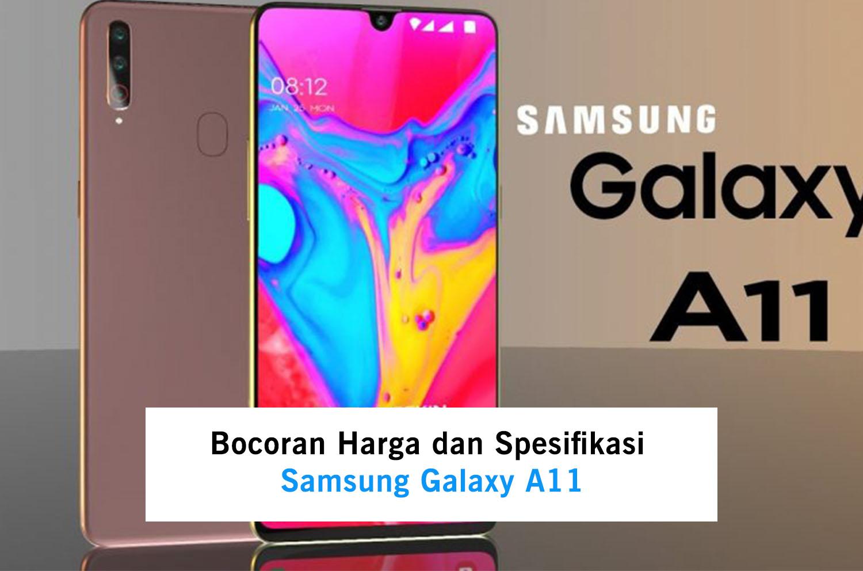 Bocoran Harga dan Spesifikasi Samsung Galaxy A11